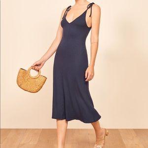 Reformation Shandy Ribbed Sleeveless Dress